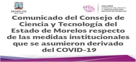 Comunicado CCyTEM COVID-19