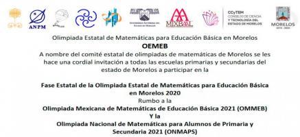 Olimpiada Estatal de Matemáticas en Morelos